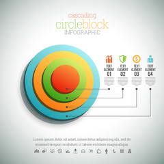 Cascading Circle Block Infographic