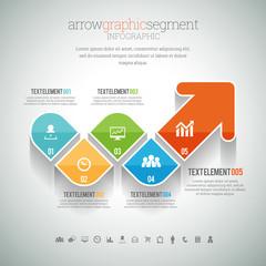Arrow Graphic Segment Infographic
