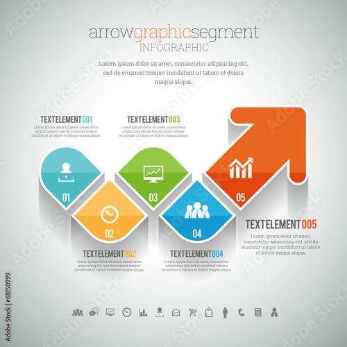 Arrow Graphic Segment Infographic - 68150999