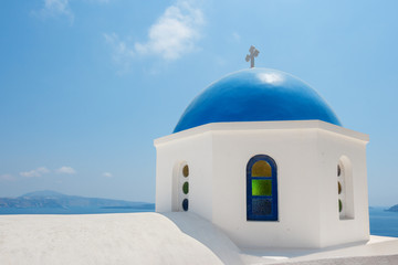 Orthodox church in Santorini. Greece