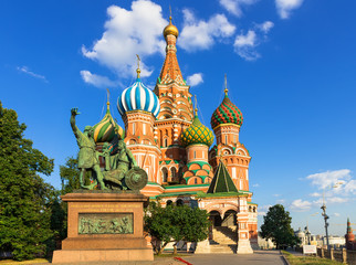 Saint Basil's Cathedral in Moscow. Russia