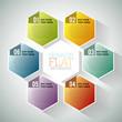 Hexagon Flat Infographic