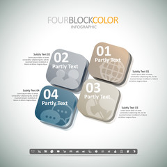 Four Box Color Infographic