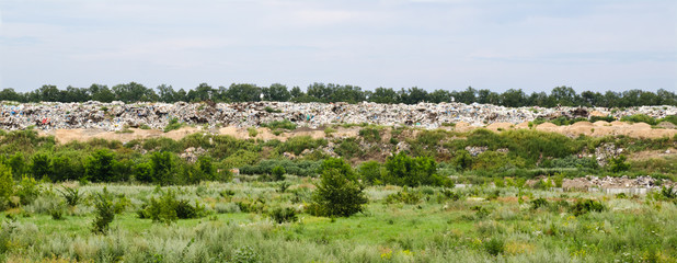 Garbage dump, pollution, global warming