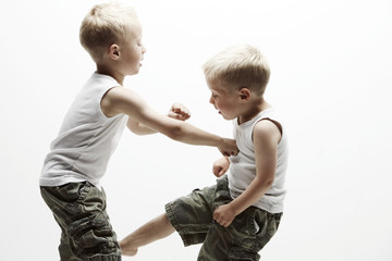 Two brothers in a battle