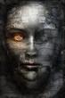 canvas print picture - Dark face