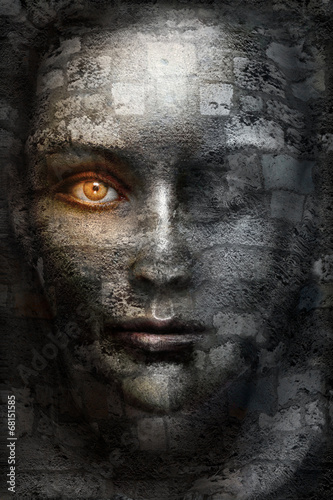 canvas print picture Dark face