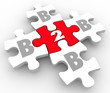 B2B Puzzle Pieces Business to Business Connections Networking