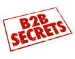 B2B Secrets Red Ink Stamp Information Tips Advice Business Sales