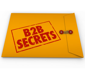 B2B Secrets Success in Business Sales Yellow Envelope Tips Advic