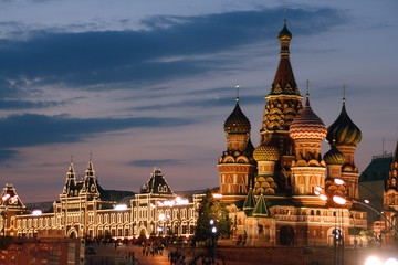 Russland Moskau, Basilikuskathedrale