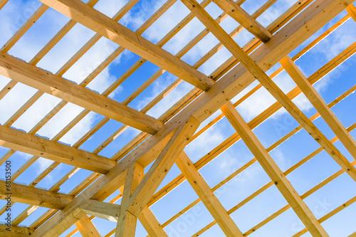 Dachkonstruktion aus Holz - 68153500