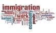 Immigration - word cloud illustration