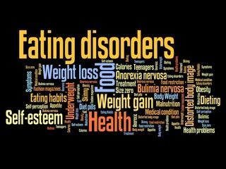 Eating disorders - word cloud illustration