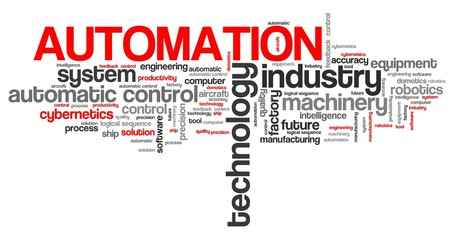 Automation - word cloud illustration