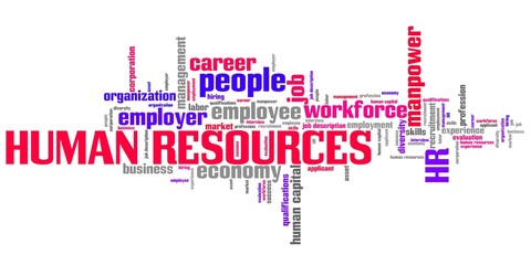 Human resources - word cloud illustration