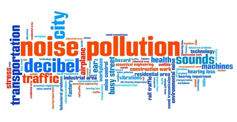 Noise pollution - word cloud illustration