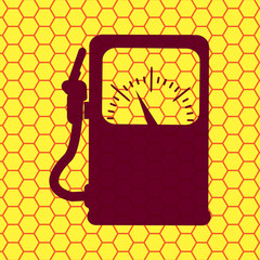 Gas, fuel station. Flat modern web button and space for your