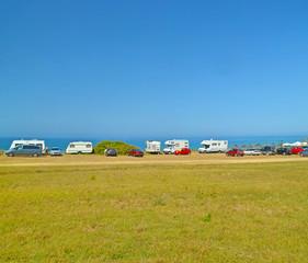 cars caravans beach - sea holidays