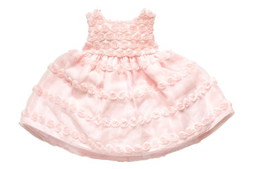 Small princess dress with roses