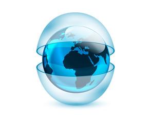 mondo, sfera, atmosfera, protezione