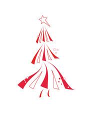 weihnachtsbaum in rot
