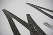 canvas print picture - Reifenspuren im Schnee