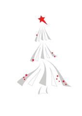 weihnachtsbaum grau -rot