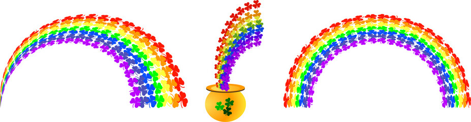 Rainbow clovers