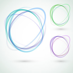 Abstract circle design swoosh line elements