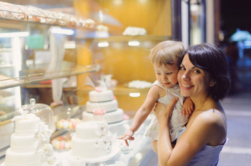 Mother and Daughter at Pastry Shop