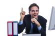 Erfolgreicher Geschäftsmann am Schreibtisch