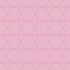 Pink and White Hexagon Tiles Pattern Repeat Background