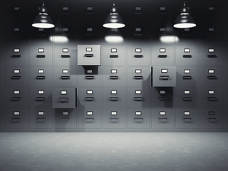 Room with file cabinets