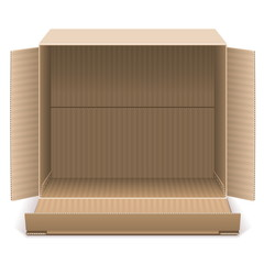 Vector Open Carton Box