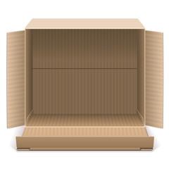 Vector Open Carton Box