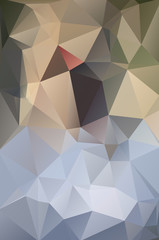 Abstract polygon green white