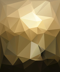 Abstract polygon sun style
