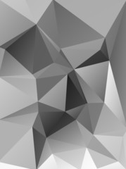 Abstract polygonal polygon background gray ice style