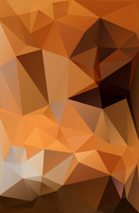 Abstract polygonal polygon background dark orange