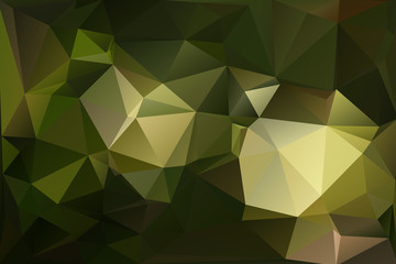 Abstract polygonal polygon background dark green style