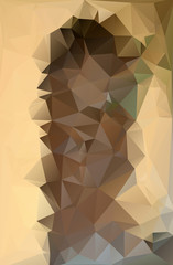 Abstract polygonal polygon style sun yellow and brown
