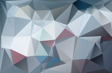Abstract polygonal polygon background white gray ice style