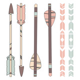 American Indian Arrows and Pattern in Pastel Colors