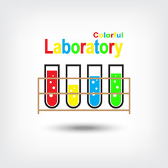 Colorful Laboratory Vector