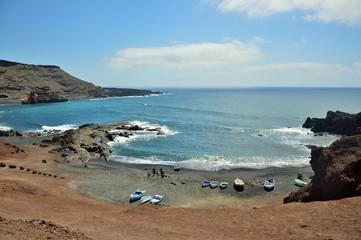 El Golfo, barche pronte per la pesca Fuerteventura Isole Canarie