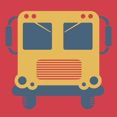 School bus, vector, flat icon(from set Back to school)