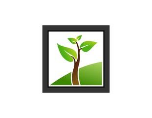 tree , logo, eco, green, bio, plant, frame vector, landscape