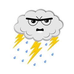 Icona meteo nube temporalesca