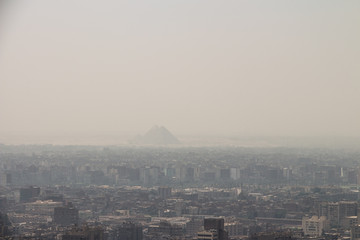 Sandstorm in Cairo, Egypt